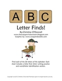 ABC Letter Find Worksheets: All 26 letters, word id, writing practice!