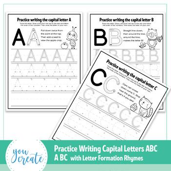 abc letter formation worksheets letter formation poems by you create. Black Bedroom Furniture Sets. Home Design Ideas
