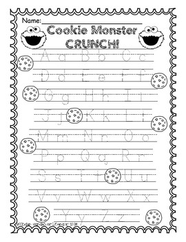 ABC Letter Game- Cookie Monster CRUNCH!