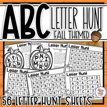 ABC Letter Hunts for Alphabet Letter Identification - Fall - Autumn Themed