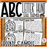ABC Letter Hunts for Alphabet Letter Identification - Fall/Autumn Themed Sample