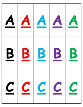 ABC: Letter Match Cards