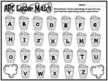 ABC Letter Match Literacy Activity