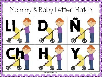 Letter Match Uppercase and Lowercase - Mommy & Baby  Activity