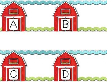 ABC Letter Matching Pocket Chart *FREEBIE* --- Alphabet Matching Pocket Chart
