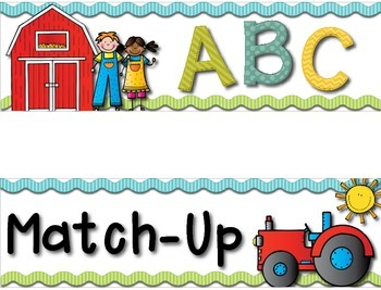 ABC Letter Matching Pocket Chart *FREEBIE* --- Alphabet Matching Pocket Chart