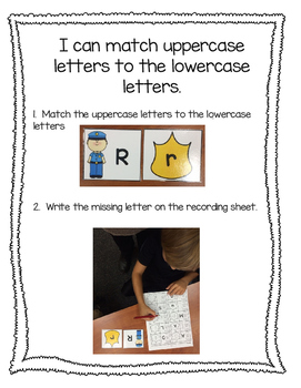ABC Letter Matching with Police Officers