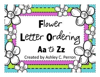 ABC Letter Ordering--Flowers/Spring