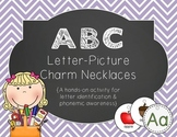 ABC Letter-Picture Charm Necklaces