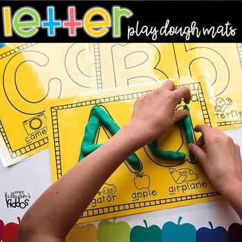 ABC Letter Playdough Mats