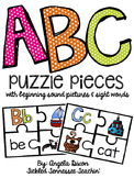 ABC Letter Puzzles with Sight Words and Pictures