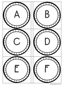 ABC Letter Recognition Activity - Flip and Flash - Blue Circles