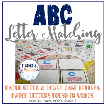 ABC Letter Recognition Activity Game and Animal Matching