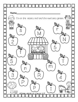 ABC & Number Recognition Practice Sheets