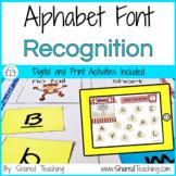 Alphabet Letter Recognition Font Sort