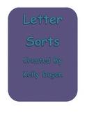 ABC Letter Sorts -  Capital - Lowercase, Consonant - Vowel, Symmetry