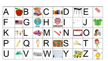 ABC Letter/Sound/Word Charts