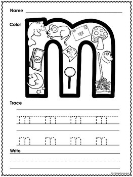 ABC Letter Sound and Handwriting Worksheets