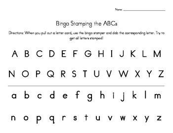 ABC Letter Stamping