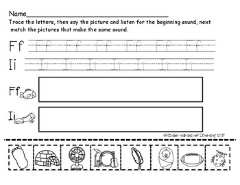 ABC Letter Trace and Sound Cut and Paste