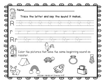 ABC Letter Trace and Sound Sort