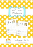 ABC Letter Worksheets - Basic Phonics