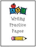 ABC Letter Writing Practice/Tracing Pages