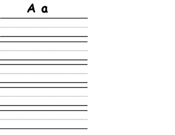 ABC Letter Writing papers