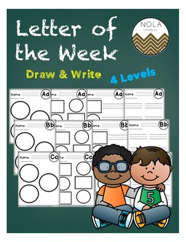 ABC Letter of the Week Draw and Write Pack- No Prep!