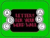 ABC Letters for Word Walls