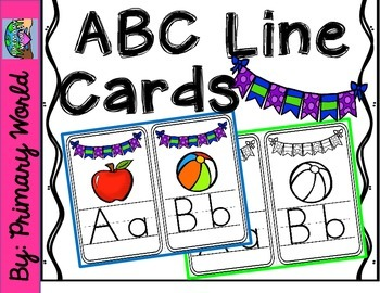 ABC Line-Classroom Display-Blue,Green,Purple Bunting