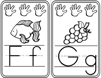 ABC Line-Classroom Display-Colorful Hands Design