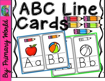 ABC Line-Classroom Display-Pencil Brights Theme