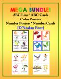 ABC Line, Color Poster, Number Poster Mega Bundle {D'Nealian}