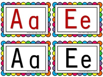 ABC Line + Editable Word Wall Cards - Colorful Dots (+Spanish characters)