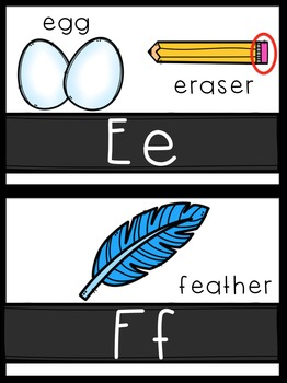 ABC Line with Matching Clip Art {4 variations}