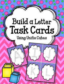 ABC Linking Cube Task Cards. Build the ABCs.  Interlocking Counting Blocks