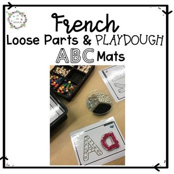 ABC Loose Parts & Playdough Mats (FRENCH)