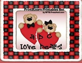 ABC Love Bears {Valentines Early Literacy}