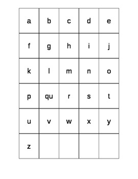 ABC Lowercase Grid