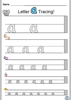 ABC Lowercase Letters Tracing Printables