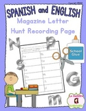 Letter Recognition: ABC Magazine Letter Hunt (English and Spanish Versions)
