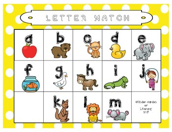 ABC Magnetic Match Up