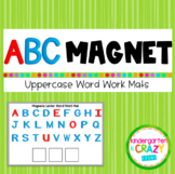 ABC Magnetic UPPERCASE Letter & Word Work Mats