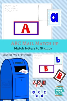 ABC Mail Match up, Dramatic Play FUN, lower case & captial letters, Post Office