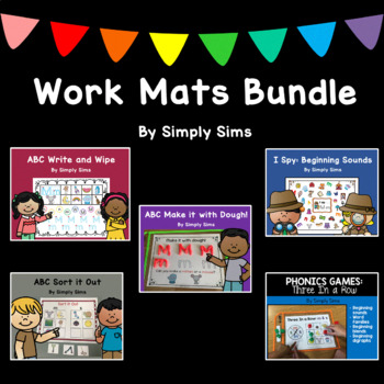 ABC Make it with dough! Work Mats Centers