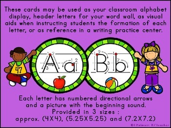 ABC Manuscript Handwriting Cards with Directional Arrows - Avacado Circles