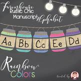 ABC Manuscript Rainbow Colors (Editable)