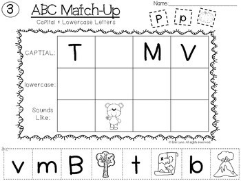 Alphabet Letter & Sounds Match-Up (A-Z Letter/Sound Recognition)