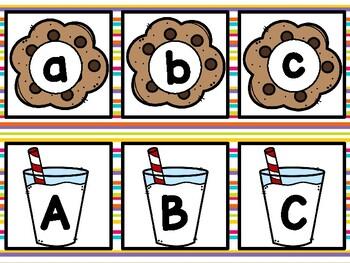 ABC Match Up - Milk & Cookies